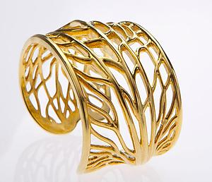 Gold Vein Bangle: Dror Heymann: Gold Bracelet - Artful Home
