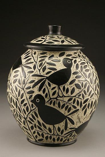 Blackbird Cookie Jar By Jennifer Falter Ceramic Cookie
