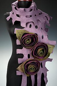Amy Scarf: Elizabeth Rubidge: Fiber Scarf - Artful Home