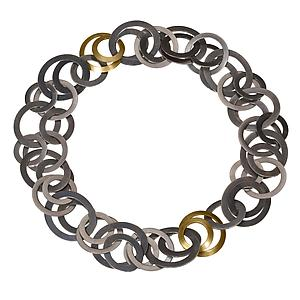 Module Necklace/Bracelet: Karen and James Moustafellos: Gold & Silver Necklace - Artful Home