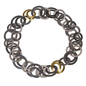 Module Necklace/Bracelet: Karen and James Moustafellos: Gold & Silver Necklace - Artful Home