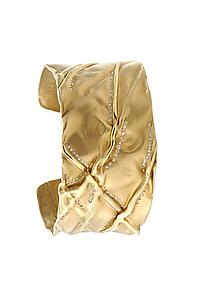 Gold Cuff with Diamonds: Bracelet 02: Diana Widman: Gold & Stone Bracelet - Artful Home