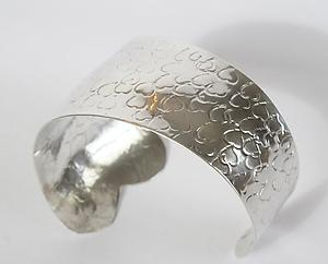 Sea of Hearts Bracelet: Dennis Higgins: Silver Bracelet - Artful Home