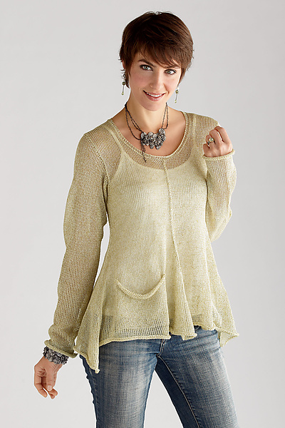 Renata Sweater: Sue Peterson: Linen Sweater - Artful Home