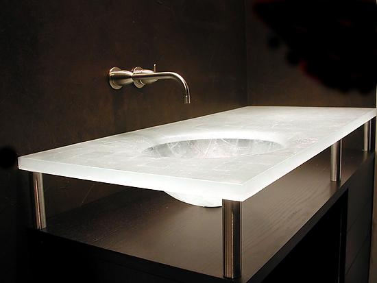 Integral Sectioned Sink By George Scott Art Glass Sink