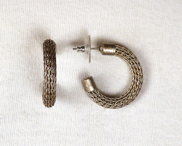 Knitting With Metal Wire : Small thin wire knit hoops by sarah cavender metal