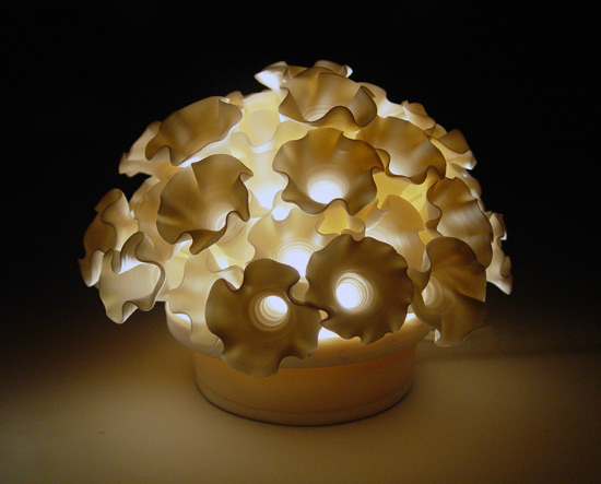 Flowers Mini Light By Lilach Lotan Ceramic Lamp Artful