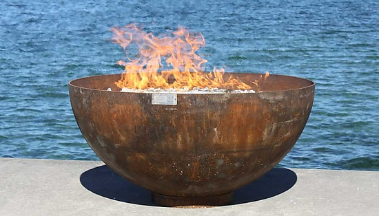 Big Bowl O Zen Sculptural Firebowl By John T Unger Metal