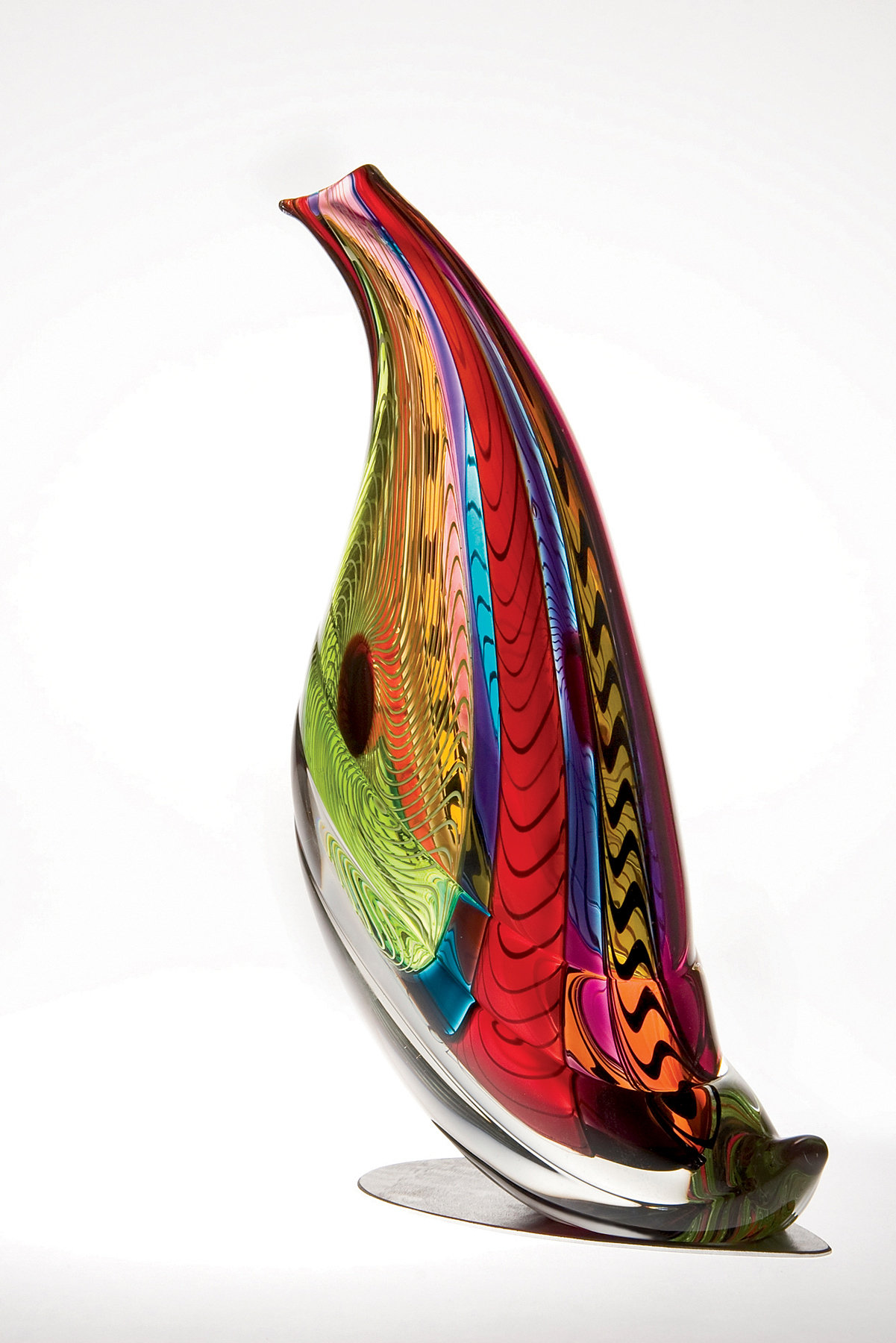 Quail sculpture by mike wallace art glass