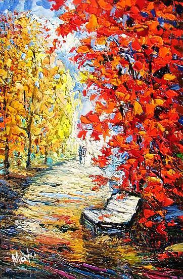 Fall Foliage By Maya Green Oil Painting Artful Home