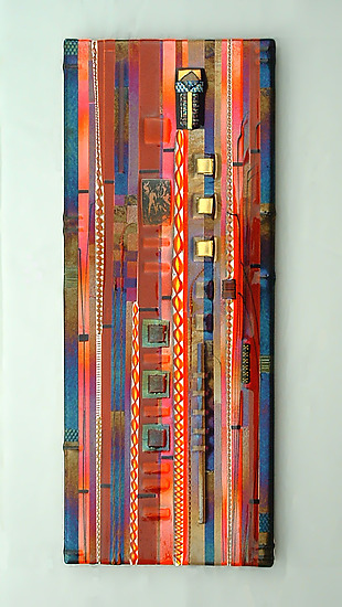 Sunset Coral Wall Panel By Mark Ditzler Art Glass Wall