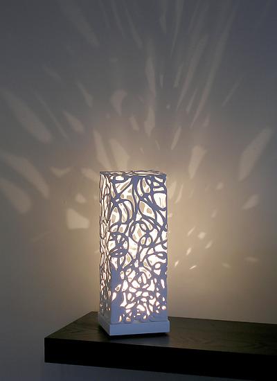 Curls Mini Luminaire By Muhammad Moussa Ceramic Table