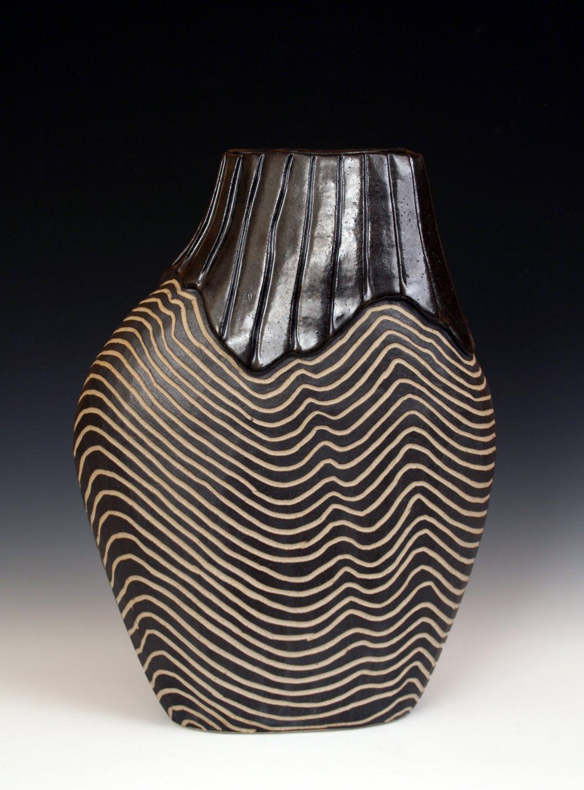 Overlap Shoulder Pot By Larry Halvorsen Ceramic Vessel