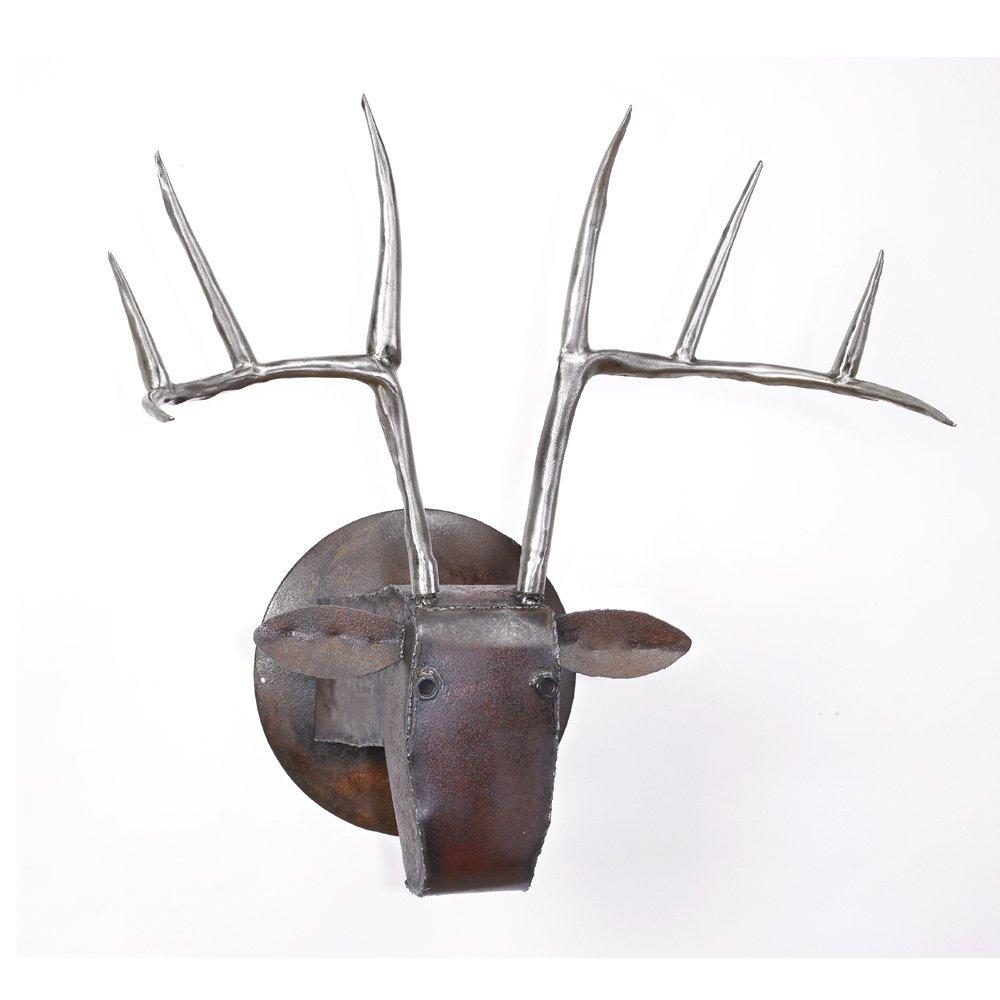 Large Deer Head By Ben Gatski And Kate Gatski Metal Wall