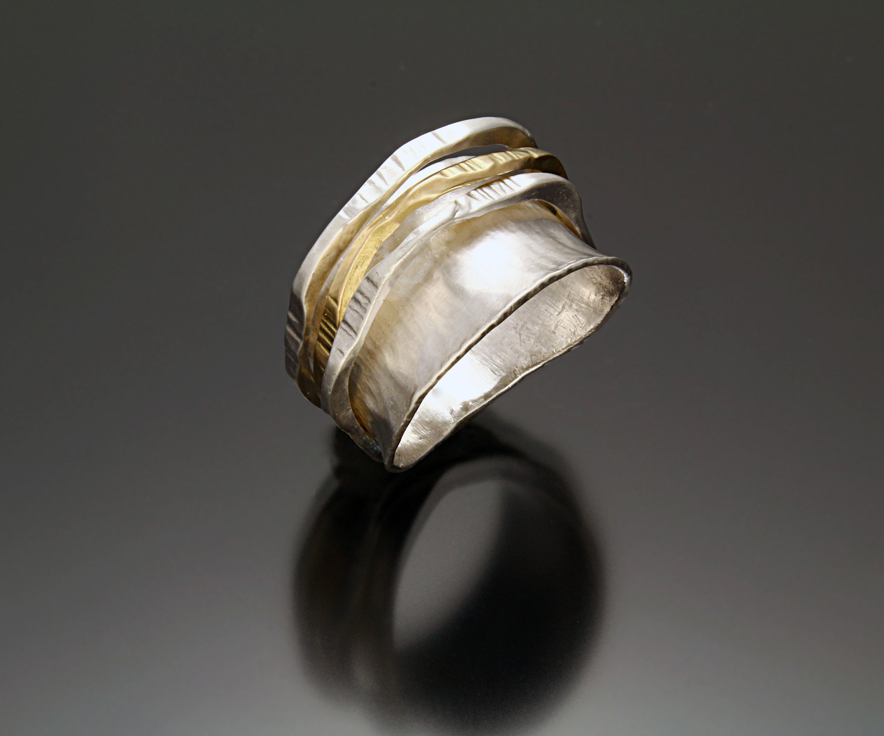 ring ii by sana doumet gold silver ring artful home