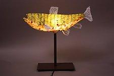 Mixed-Media Lamp by Lara Fisher