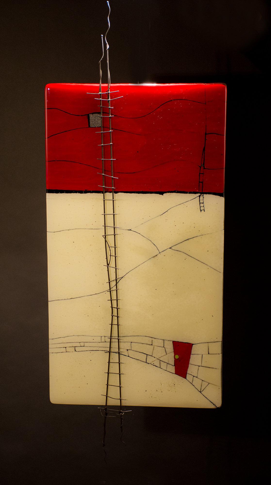 A window opens i by vicky kokolski and meg branzetti art for Large glass walls