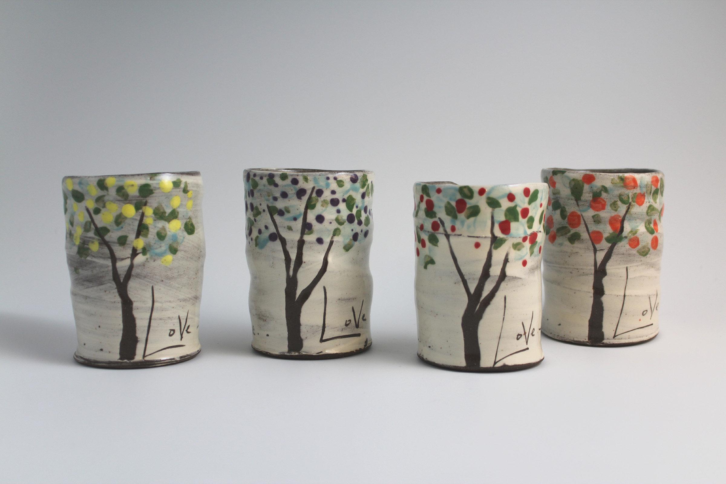 Fruit Trees Mug Set By Noelle Van Hendrick And Eric