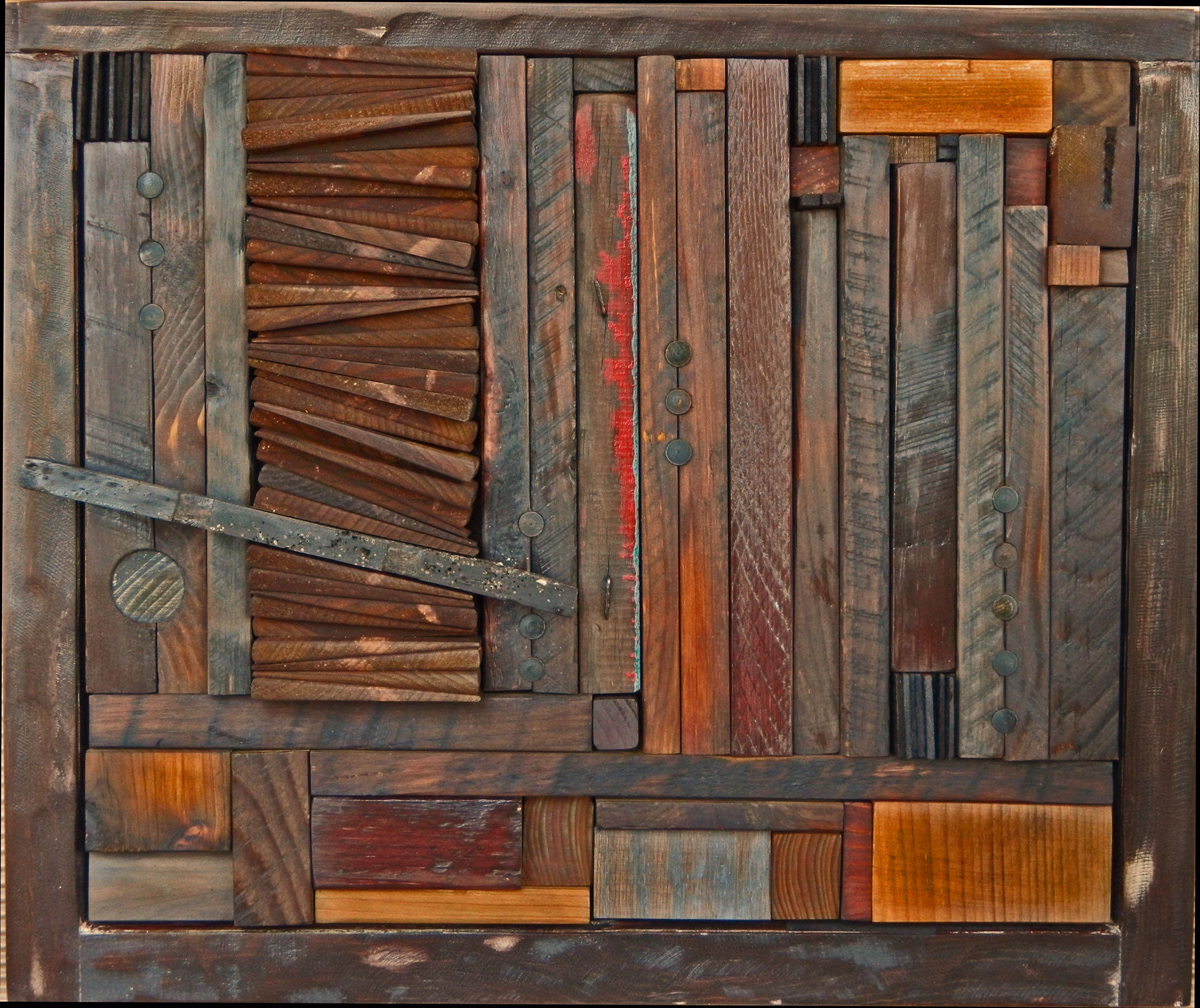 Attractive wall decoration and reclaimed wood art