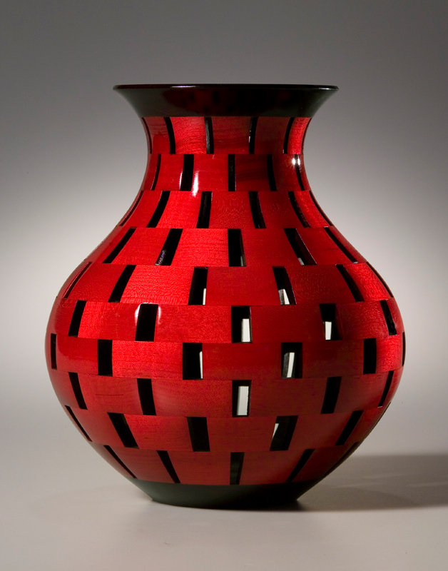 Open Segment Vase By Joel Hunnicutt Wood Sculpture