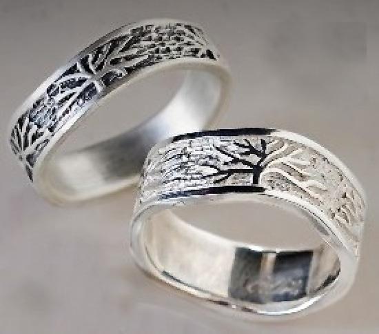 Tree Rings By Connie Ulrich Silver Wedding Band Artful