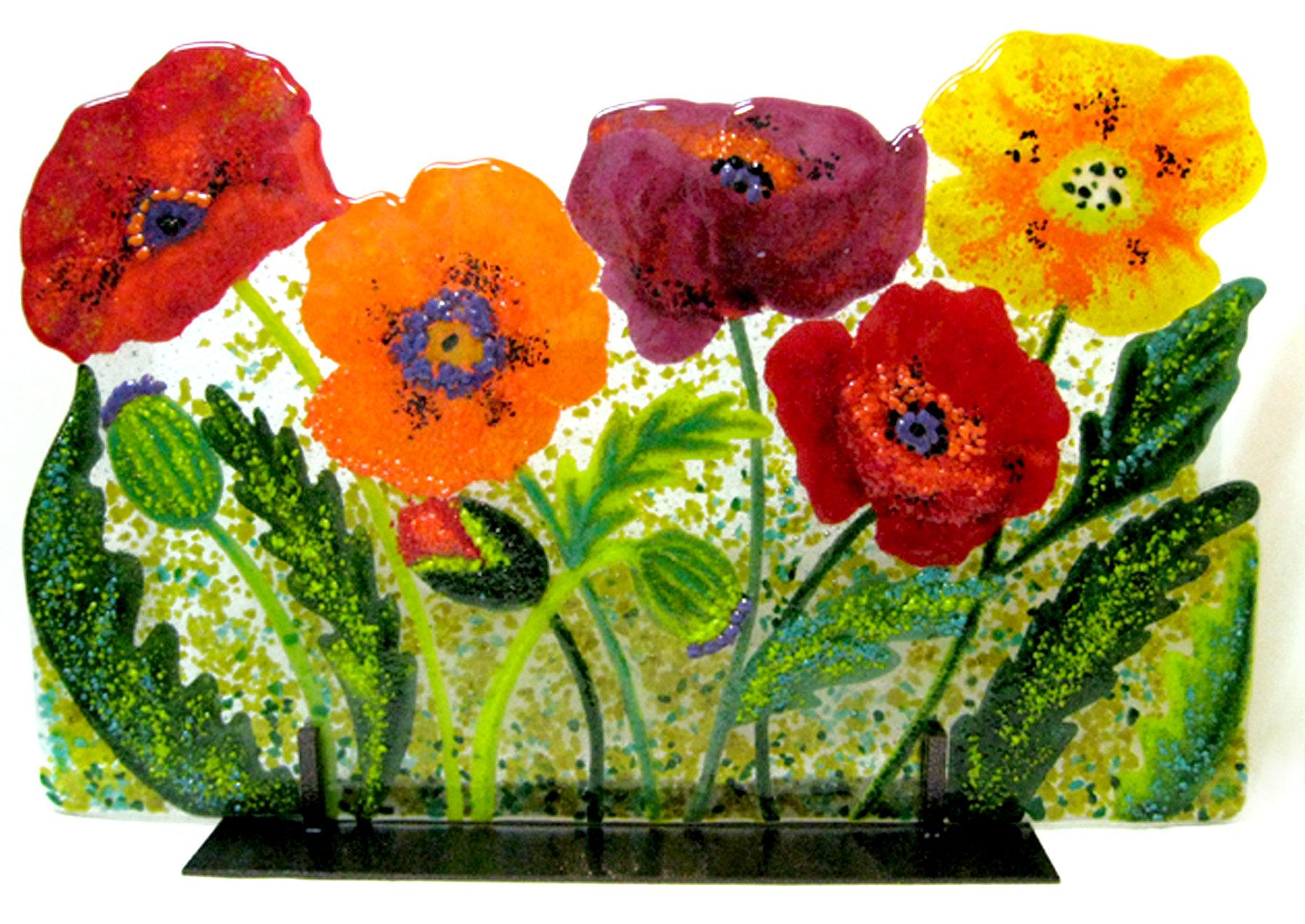 Wild Poppies By Anne Nye Art Glass Sculpture Artful Home