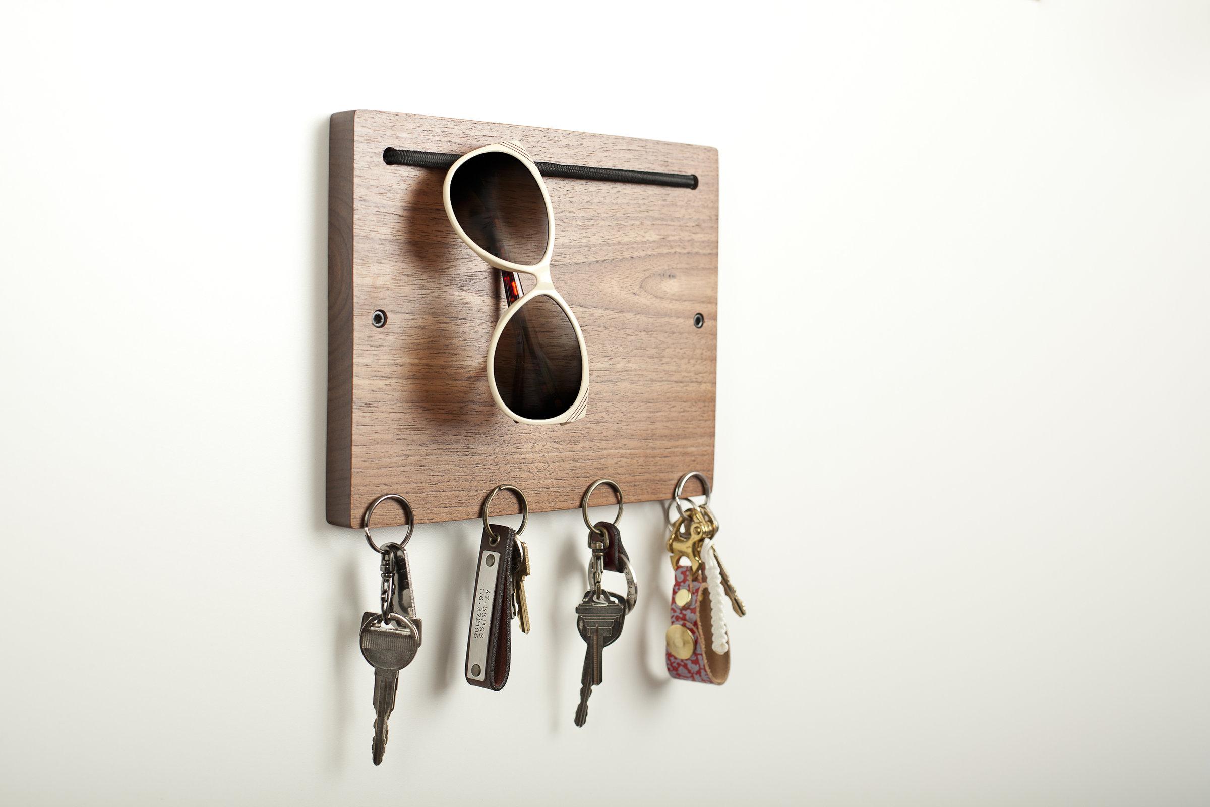 Blokkey Eyewear And Key Holder In Walnut By Brad Reed
