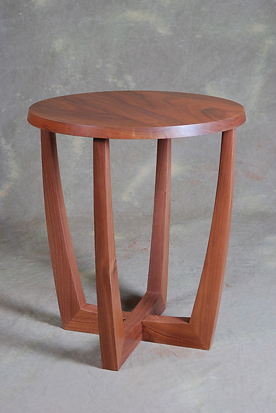 Right side up upside down side table by scott ernst for Table up down extensible