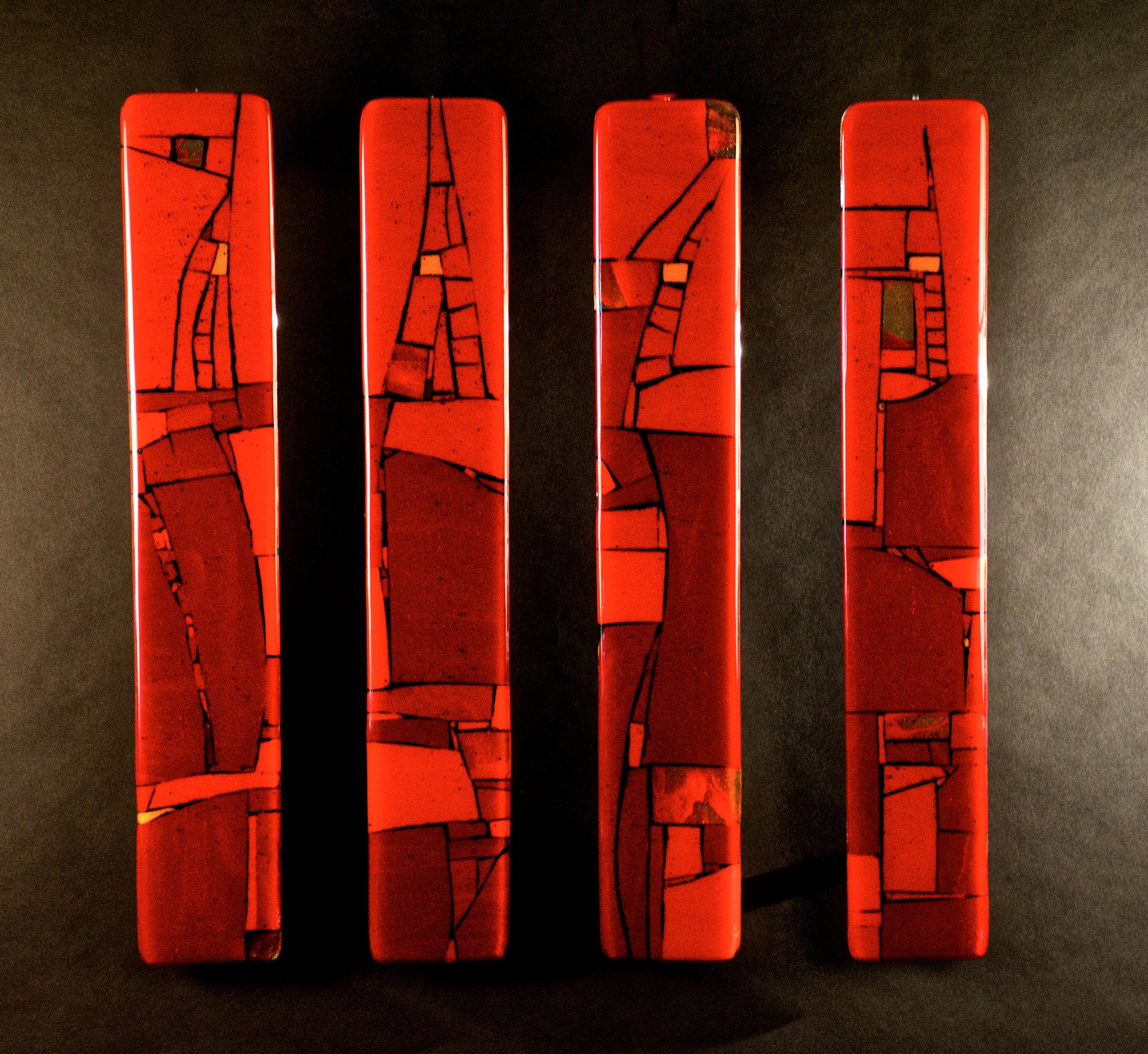 Red Passages By Meg Branzetti Vicky Kokolski Art Glass
