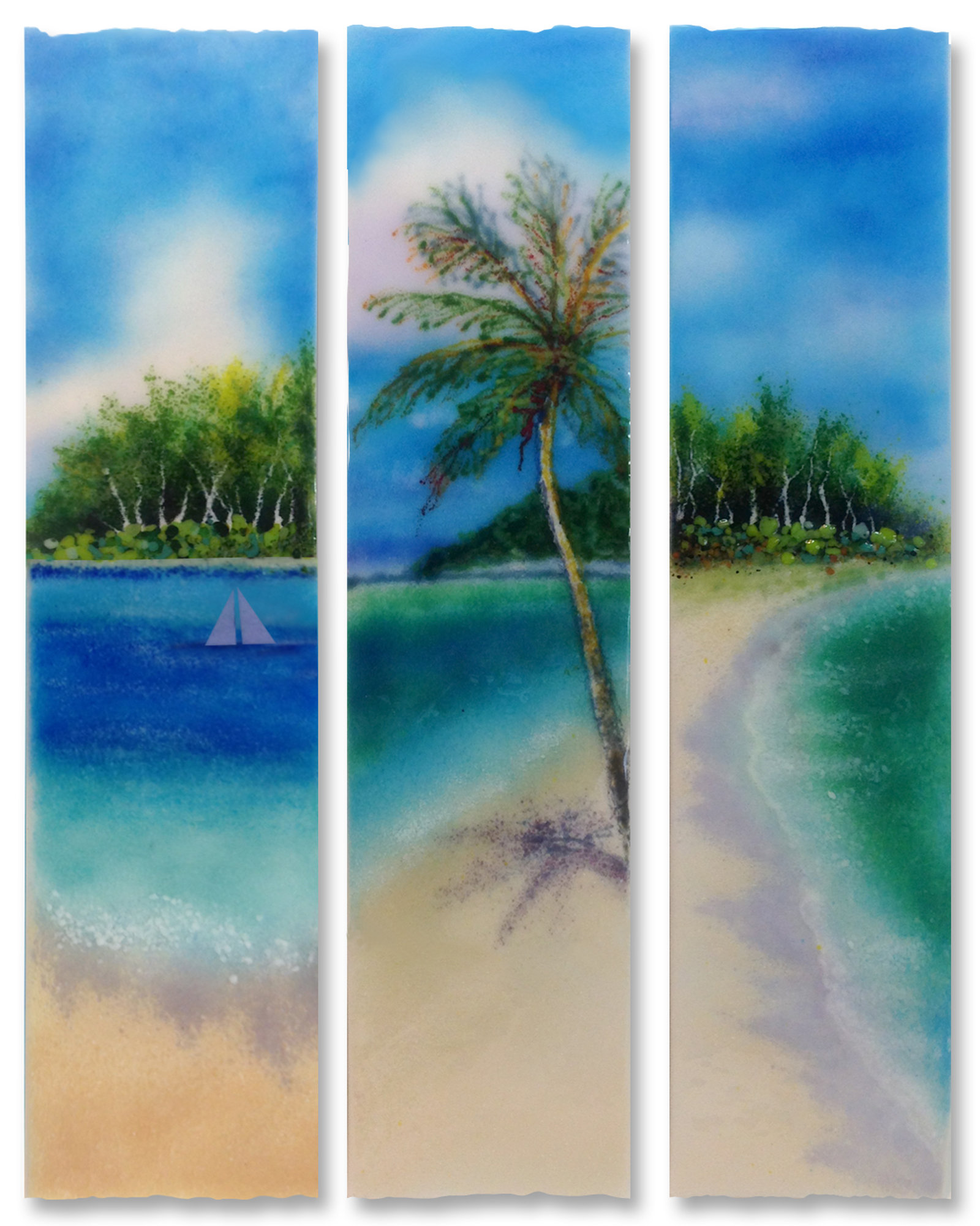 Ocean view stix by anne nye art glass wall art artful home for Large glass walls