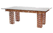 Metal Dining Table by TJ Volonis