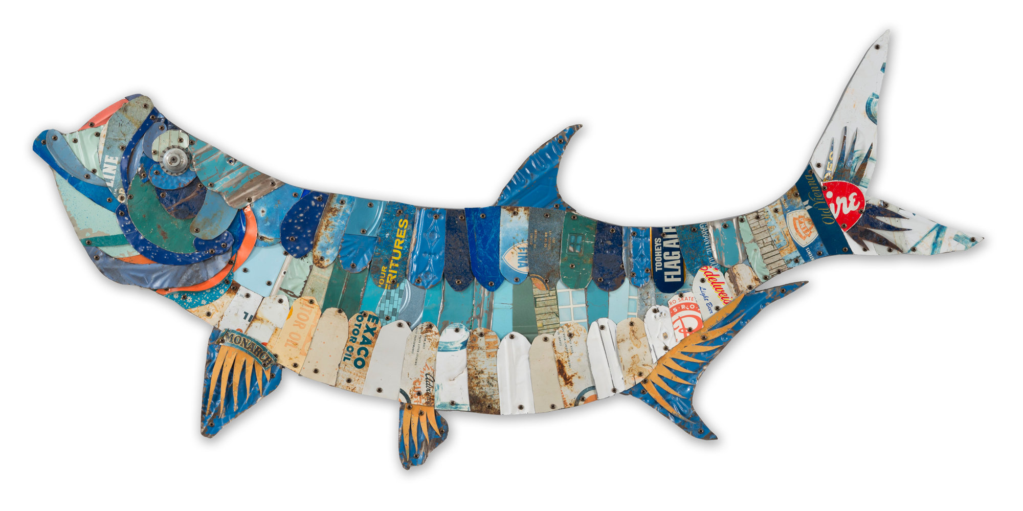 Trophy fish collection tarpon by dolan geiman metal wall for Artwork for wall decoration