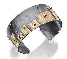 Gold, Silver, & Stone Bracelet by Sydney Lynch