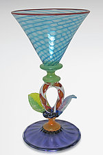 Art Glass Goblet by Robert Dane