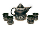 """Teapot and Cups"" by Larry Halvorsen"