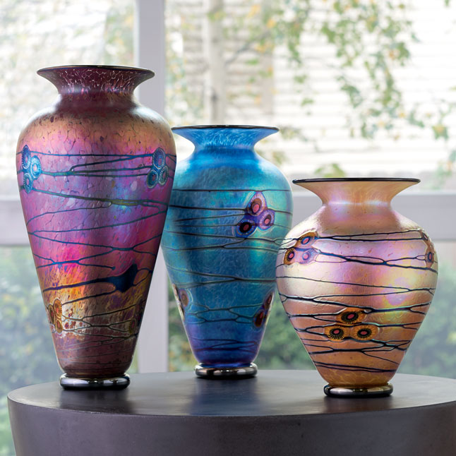Art Glass Bowls Sculpture And More Artful Home - Colorful glass drawers that can form an art object