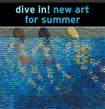 dive in! new art for summer