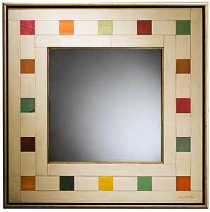 Hey, Good Lookin': Richard Rockford: Mixed-Media Mirror - Artful Home :  mirror artful home vanity decor