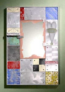 Tech.Tile Mirror: Thomas Mann: Metal Mirror - Artful Home :  mirror vain decoration living