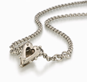 Shadow Rococo Heart: Thomas Mann: Silver & Bronze Pendant - Artful Home :  shopping heart pendant bronze