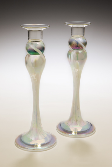 Ivory Candlestick Pair