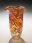 Hot Mix Rowena Vase by Mark Rosenbaum (Art Glass Vase)