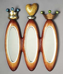 Royal Trio: Brent Skidmore: Wood Mirror - Artful Home :  mirror vain decoration living