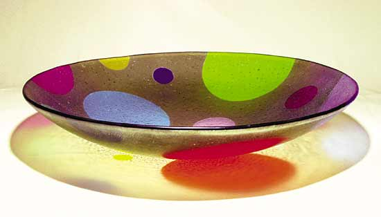 Dotware Bowl With Tan Background