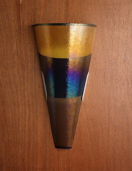 Band Sconce By Kathleen Ash Art Glass Sconce Artful Home