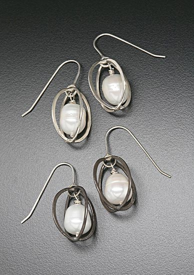 """Hammered Egg with Baroque Pearl"""