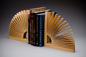 Abanico Bookend: Seth Rolland: Wood Bookend - Artful Home