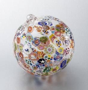 Murrini Sphere '08: Mary Mullaney and Ralph Mossman: Art Glass Ornament - Artful Home :  holiday glass gift artful home