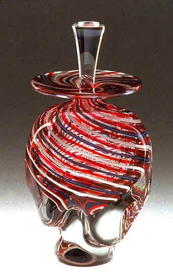 Striped Perfume Bottle