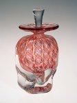 Peach Zanfirico by Ralph Mossman and Mary Mullaney (Art Glass Perfume Bottle)